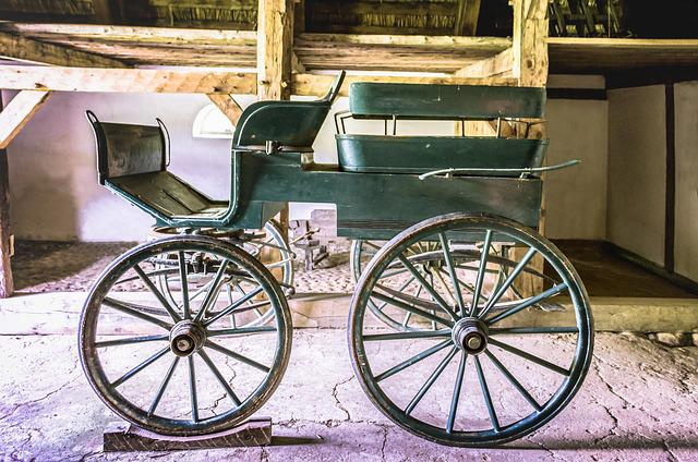Coach, Wooden Coach, Horse Drawn Carriage, Old Coach