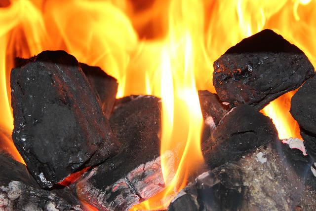 Hearth, Fire, Coal, Lumps Of Coal, Heat, Flames, Censer