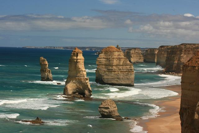 Twelve Apostle, Australia, Va, Beach, Coast, Nature