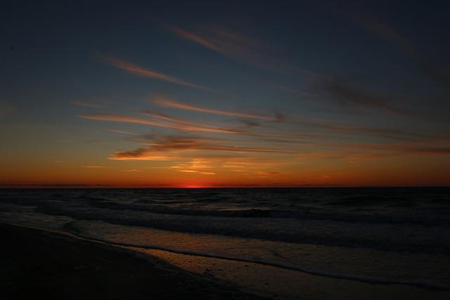Sunset, Dusk, Dawn, Sea, Waters, Nature, Coast, Beach