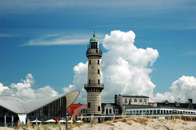Warnemünde, Lighthouse, Baltic Sea, Coast