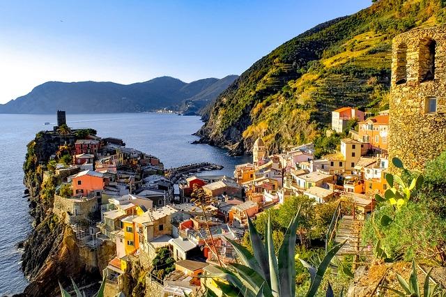 Cinque Terre, Vernazza, Village, Mediterranean, Coast