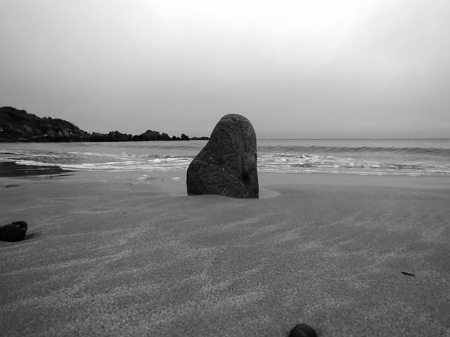 Nature, Ireland, Coast, Stone, Menhir