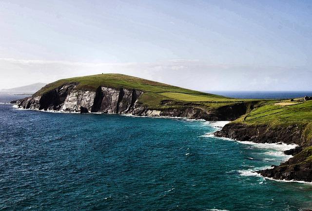 Ireland, Coastline, Coast, Peninsula, Ocean, Sea