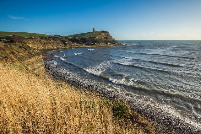 Kimmeridge Bay, Ocean, Coast, England