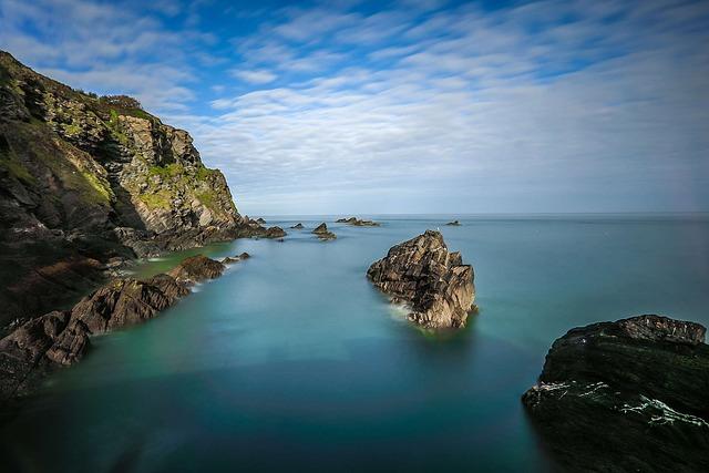 Coast, Reefs, Rocks, Ocean, England