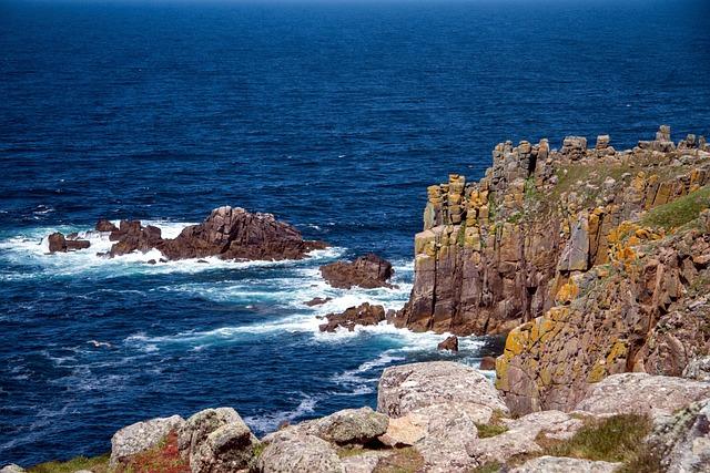 Cornwall, Atlantic, Coast, Rocky Coast