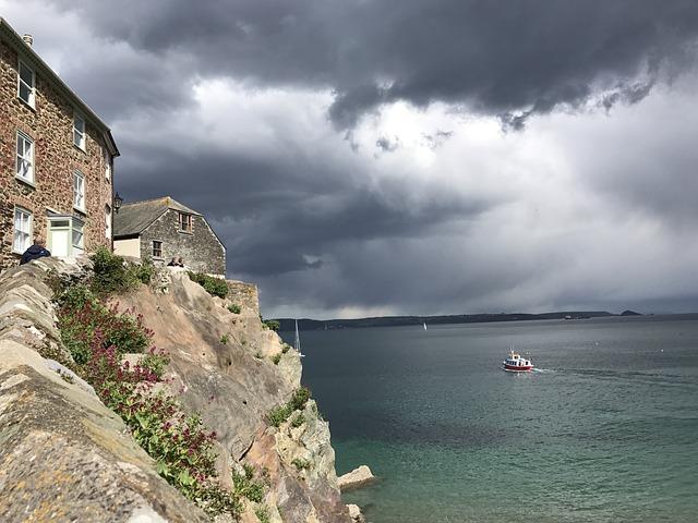 Rock, Coast, England, Sea, Scenic, Coastline, Cloud