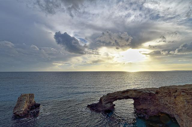 Cyprus, Agia Napa, Love Bridge, Waters, Sea, Coast, Sky