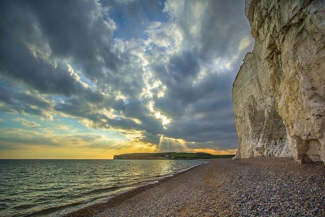 Seven Sisters, Ocean, England, Cliff, Beach, Coast