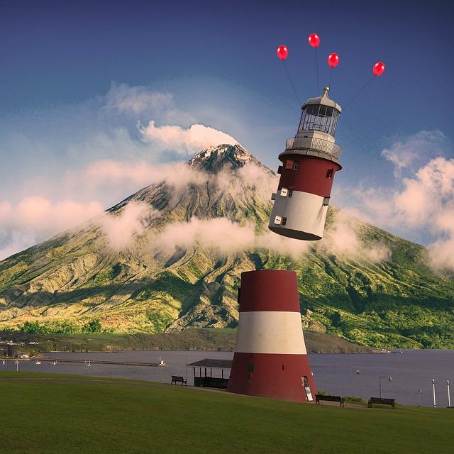 Lighthouse, Instructions, Coast, Tower, Landscape, Sky