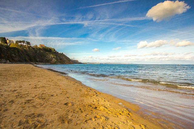 Beach, Ocean, Coast, Wales, Tenby
