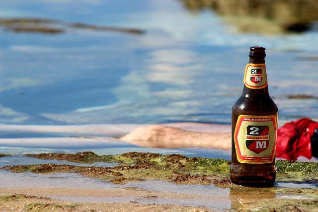 Beer, Mozambique, Ocean, Africa, Water, Alcohol, Coast