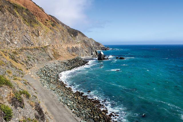 West Coast, California, View, Sea, Coastal, Landscape
