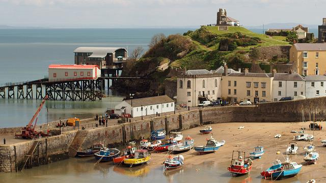 Tenby, Pembrokeshire, Beach, Wales, Sea, Uk, Coastal