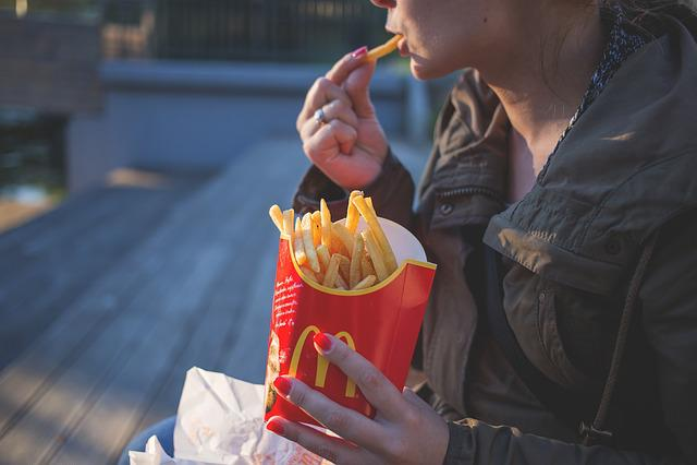 Close-up, Coat, Eating, Fast Food, Female, Fingers
