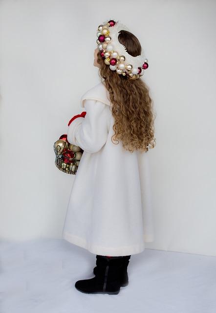 Little Girl, Winter, Christmas, Coat, Girl, Child