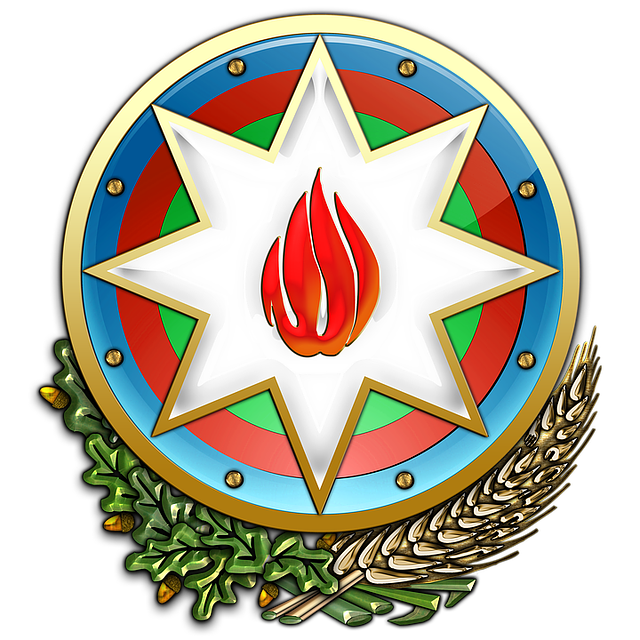 Azerbaijan, Coat Of Arms, Heraldry, Emblem