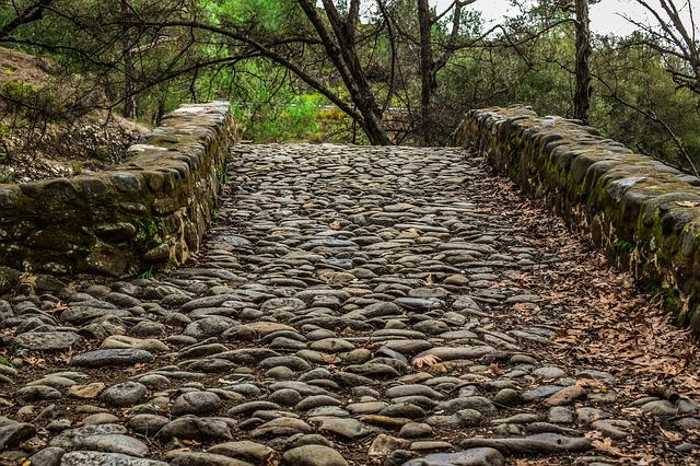 Cobblestone, Cobbled Road, Stone, Pathway, Bridge