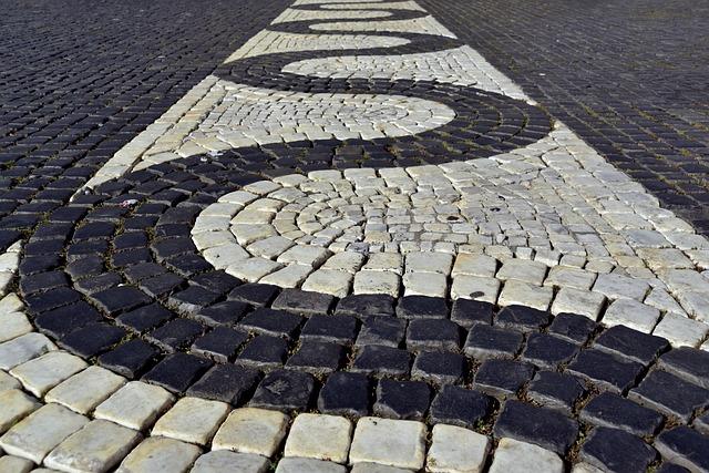 Patch, Paving Stones, Cobblestones, Snake Line, Line