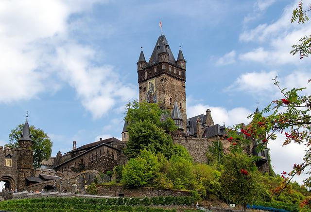Germany, Cochem, Imperial Castle, Places Of Interest