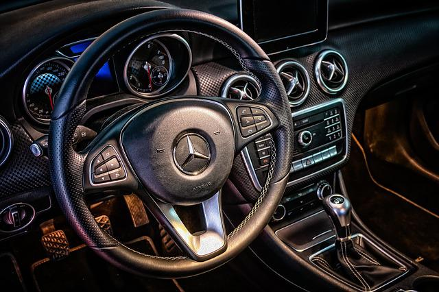 Mercedes, Cockpit, Interior, Dashboard, Steering Wheel