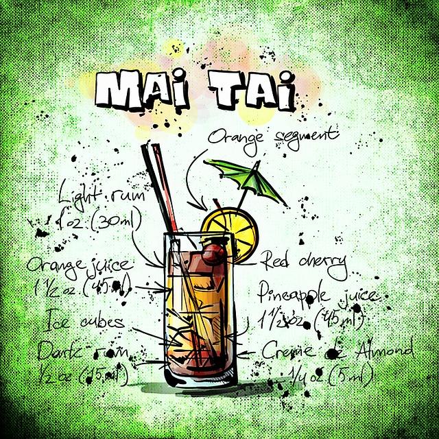 Mai Tai, Cocktail, Drink, Alcohol, Recipe, Party