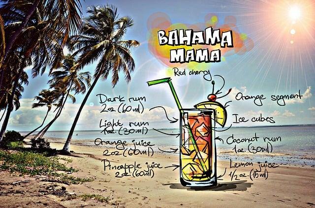 Bahama Mama, Cocktail, Drink, Alcohol, Recipe, Party