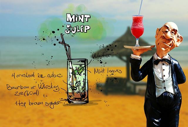 Mint Julep, Cocktail, Drink, Operation, Upper, Waiter
