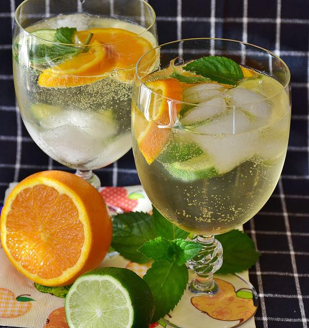 Cocktail, Prosecco, Lime, Drink, Mineral Water, Ice