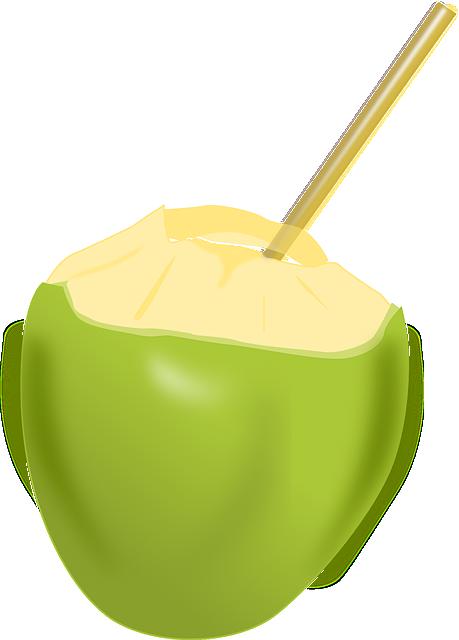 Coconut, Fruit, Beverage, Drinks, Food, Coconut Milk