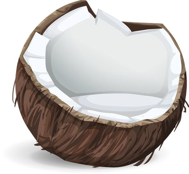 Coconuts, Foods, Fruits, Tropical, Nuts, White, Brown