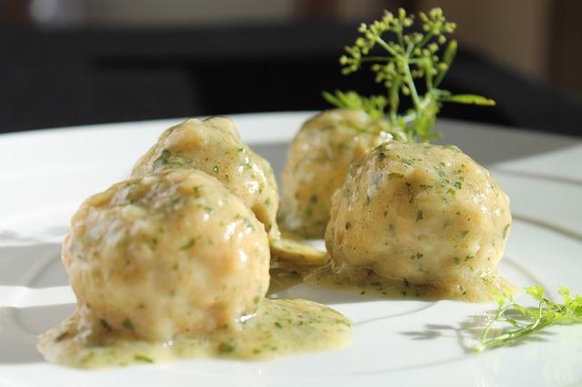 Meatballs, Cod, Green Sauce, Food, Restaurant