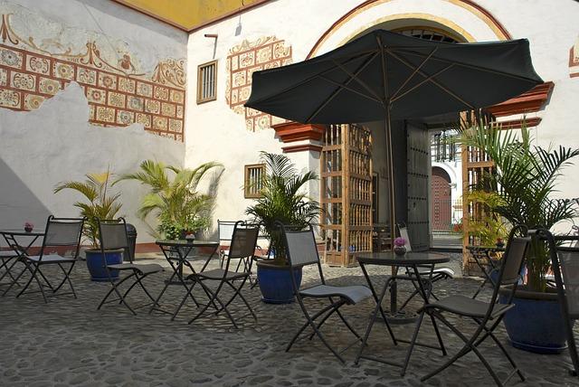 Patio, Colonial, Afternoon, Coffee, Bar, Trujillo, Peru