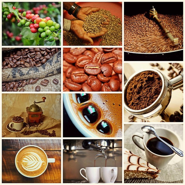 Collage, Coffee, Cafe, Drink, Coffee Beans, Cappuccino