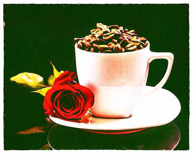 Watercolor Coffee, Coffee Beans, Rose, Caffeine, Cup