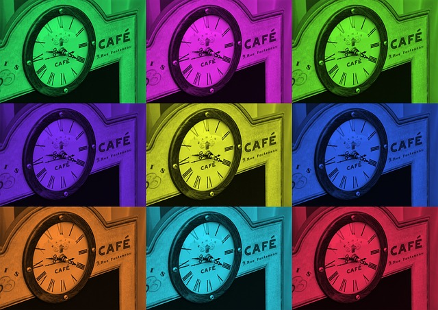 Cafe, Clock, Time Of, Time, Board, Shield, Coffee