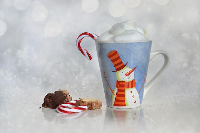 Christmas, Cup, Bokeh, Pastries, Coffee, Confectionery
