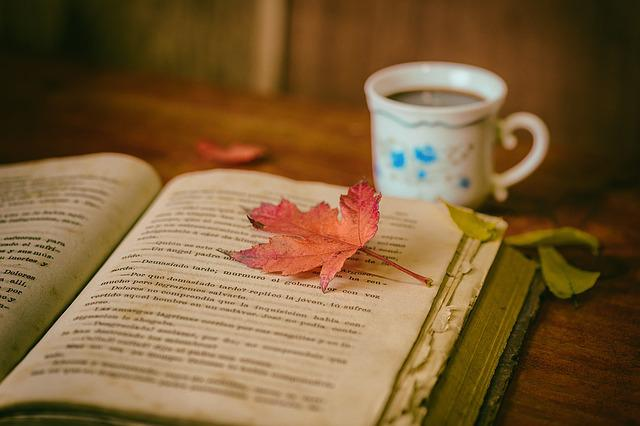 Leaves, Books, Color, Coffee, Cup, Still Life, Book