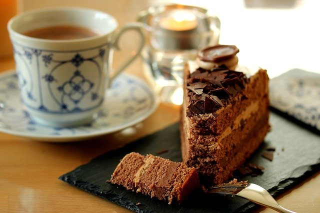 Coffee, Drink, Cup, Chocolate, Food, Chocolate Cake