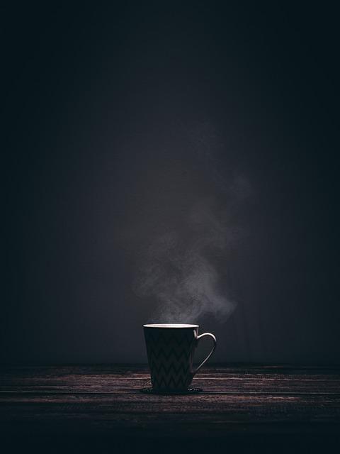 Cup, Mug, Steaming, Smoke, Coffee, Tea, Drink, Dark