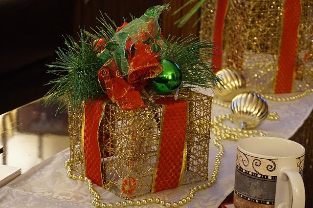 Coffee, Christmas, Cup, Holiday, Table, Gold, Festive