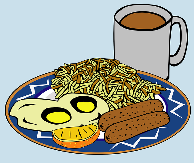 Breakfast, Eggs, Meal, Food, Sausage, Coffee, Morning