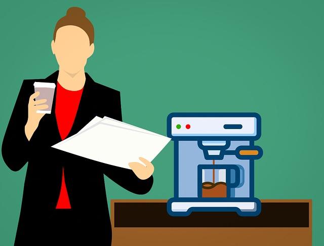 Machine, Coffee Machine, Woman, Beautiful, Beverage