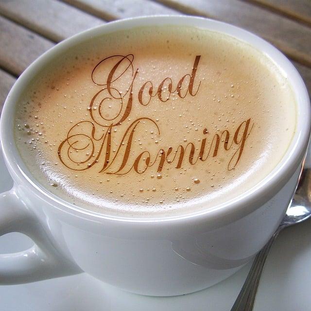 Cup, Coffee, Foam, Café Au Lait, Font, Morning, Good