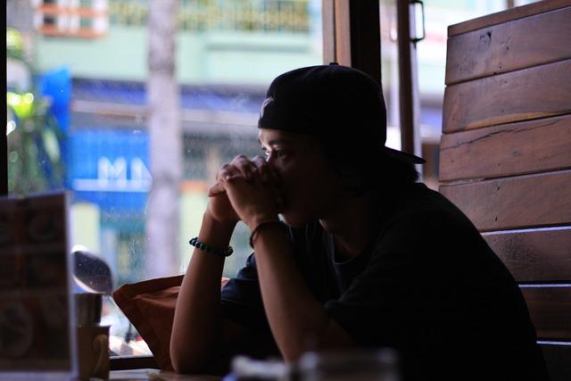 Sad Boy, Coffee, Sad Man