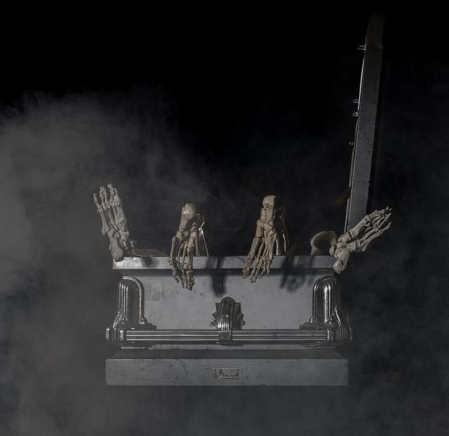 Coffin, Skeletal, Foot, Six, Humor