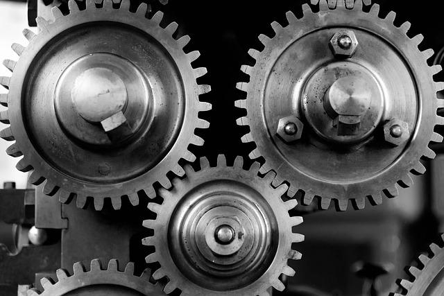 Close-up, Cogs, Gears, Machine, Machinery, Mechanical