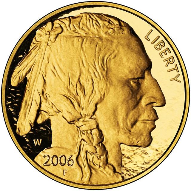 Coin, Gold, 24 Karat, Nickel, Indians, Head, Wertvolll