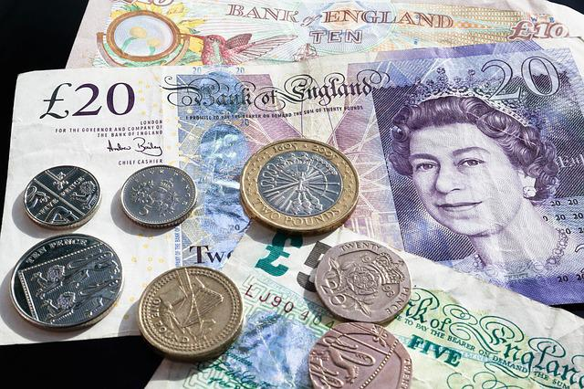 Pound, Coins, Currency, Bank Note, Money, Wealth